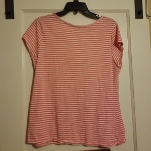 Old Navy Tops - Coral & white top